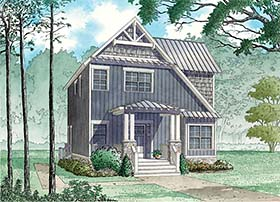 Contemporary Cottage Country Craftsman Saltbox Southern House Plan 82484 Elevation