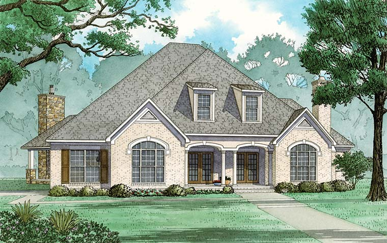 European, French Country, Traditional House Plan 82485 with 5 Beds, 6 Baths, 3 Car Garage Elevation