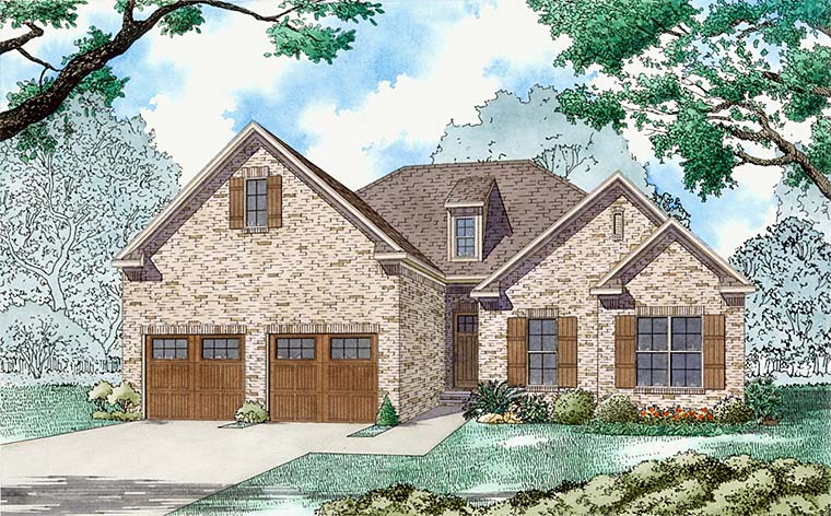 Traditional House Plan 82490 with 3 Beds, 3 Baths, 2 Car Garage Elevation