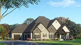 House Plan 82492 | European, Traditional Style House Plan with 4761 Sq Ft, 4 Bed, 6 Bath, 3 Car Garage Elevation