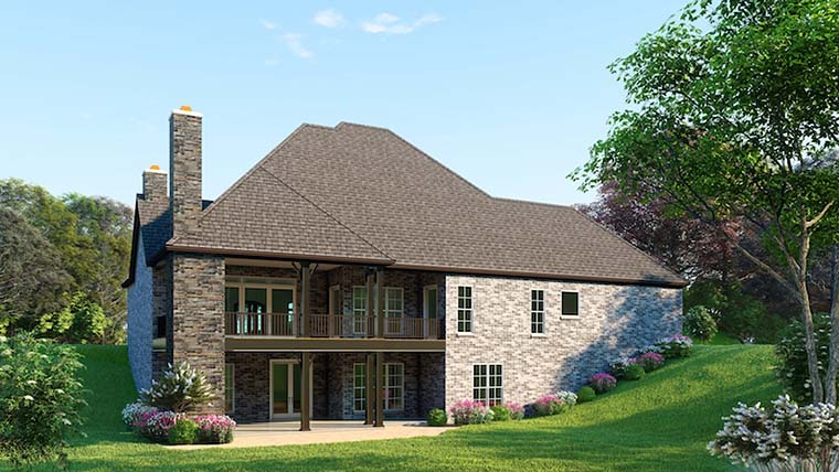 European Traditional House Plan 82492 Rear Elevation