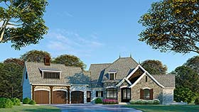 European , French Country House Plan 82494 with 3 Beds, 5 Baths, 3 Car Garage Elevation