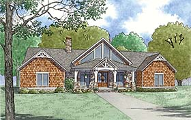 Bungalow , Cottage , Country , Craftsman , Southern House Plan 82495 with 3 Beds, 3 Baths Elevation