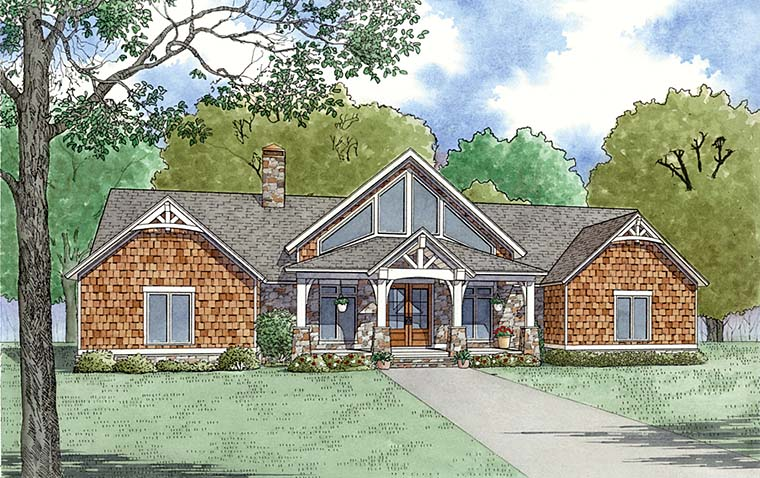 Bungalow Cottage Country Craftsman Southern House Plan 82495 Elevation