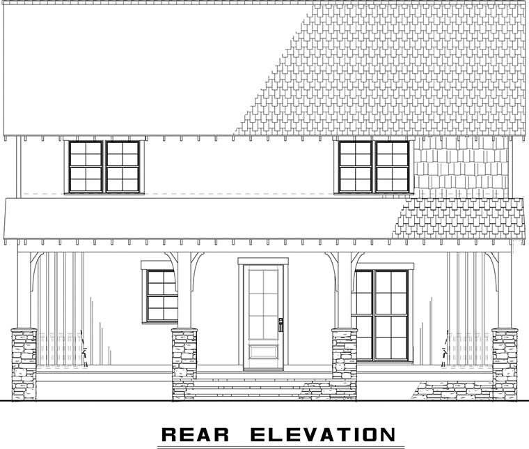 Country House Plan 82496 Rear Elevation