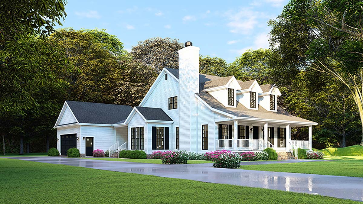 Country, Farmhouse, Southern House Plan 82500 with 4 Beds, 2 Baths, 2 Car Garage Picture 2