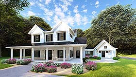 Country Farmhouse Southern House Plan 82502 Elevation