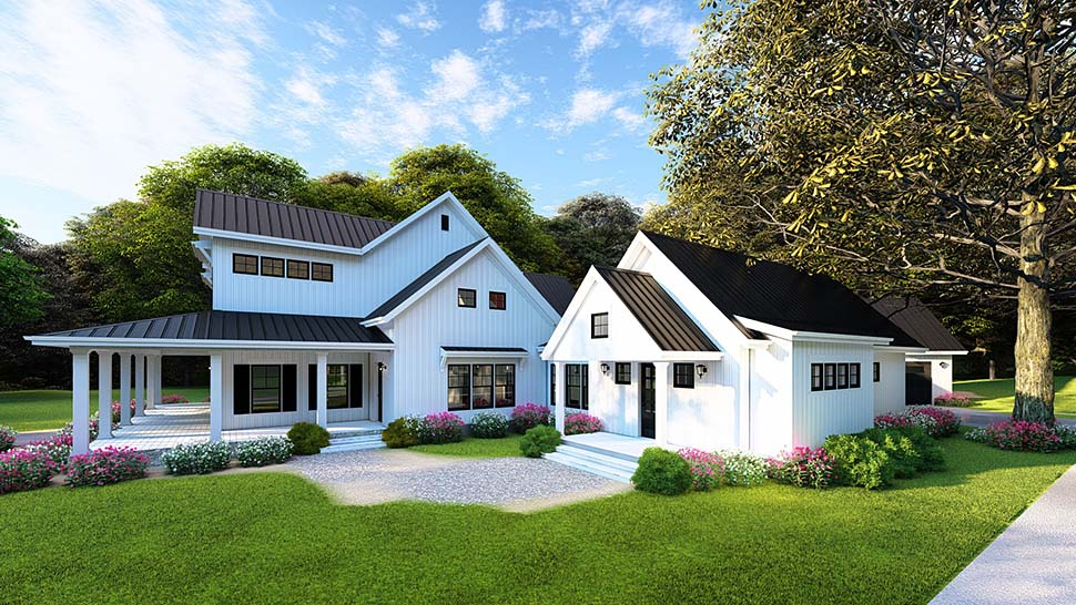 Country, Farmhouse, Southern House Plan 82502 with 4 Beds, 4 Baths, 4 Car Garage Picture 11