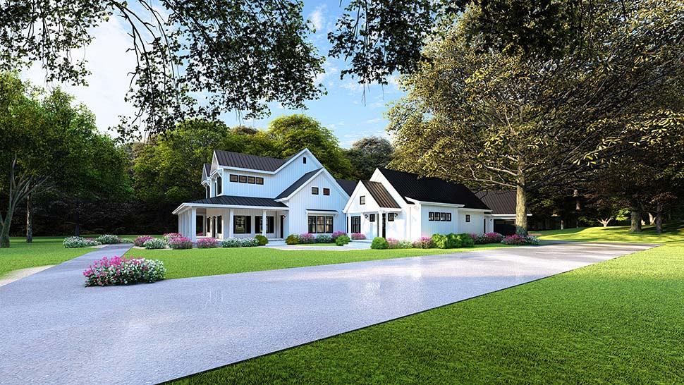 Country, Farmhouse, Southern House Plan 82502 with 4 Beds, 4 Baths, 4 Car Garage Picture 3