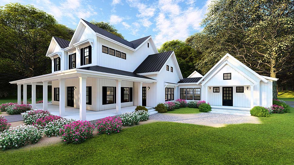 Country, Farmhouse, Southern House Plan 82502 with 4 Beds, 4 Baths, 4 Car Garage Picture 9