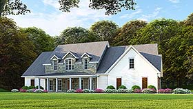Cottage Country Southern House Plan 82503 Elevation