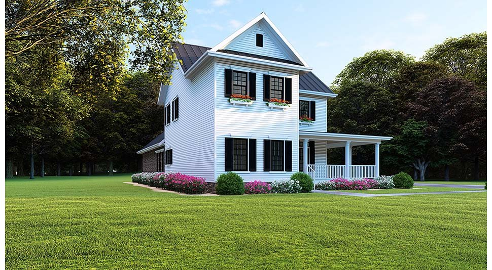 Country, Farmhouse, Southern House Plan 82505 with 4 Beds, 3 Baths, 2 Car Garage Picture 2