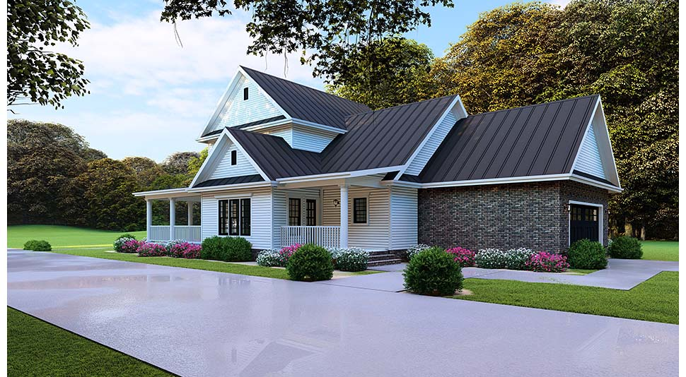 Country, Farmhouse, Southern House Plan 82505 with 4 Beds, 3 Baths, 2 Car Garage Picture 4
