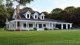 Country Farmhouse Southern House Plan 82506 Elevation