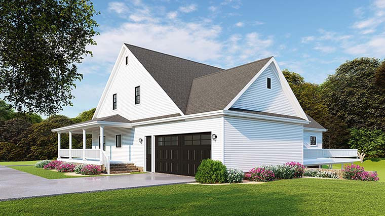 Country, Farmhouse, Southern, Traditional House Plan 82510 with 3 Beds, 3 Baths, 2 Car Garage Picture 1