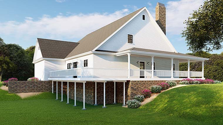 Country, Farmhouse, Southern, Traditional House Plan 82510 with 3 Beds, 3 Baths, 2 Car Garage Picture 2