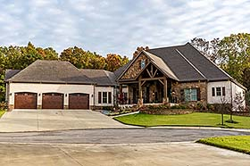 Bungalow Craftsman European French Country House Plan 82511 Elevation