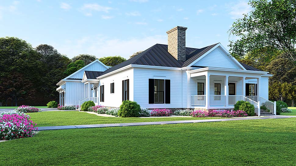 Bungalow Country Craftsman Traditional Elevation of Plan 82516
