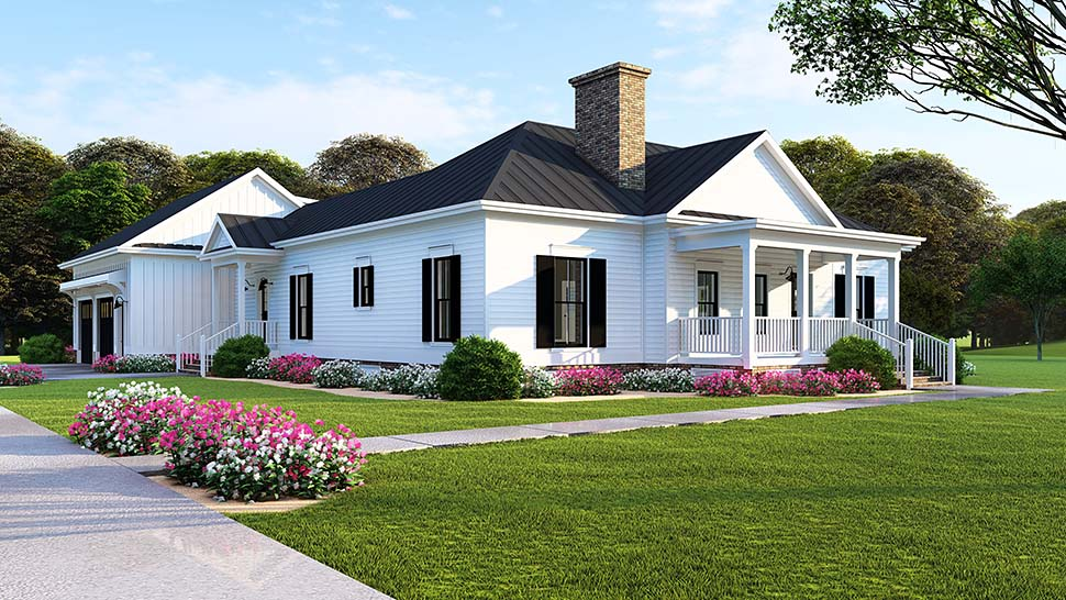 Bungalow, Country, Craftsman, Traditional House Plan 82516 with 3 Beds, 2 Baths, 2 Car Garage Picture 3