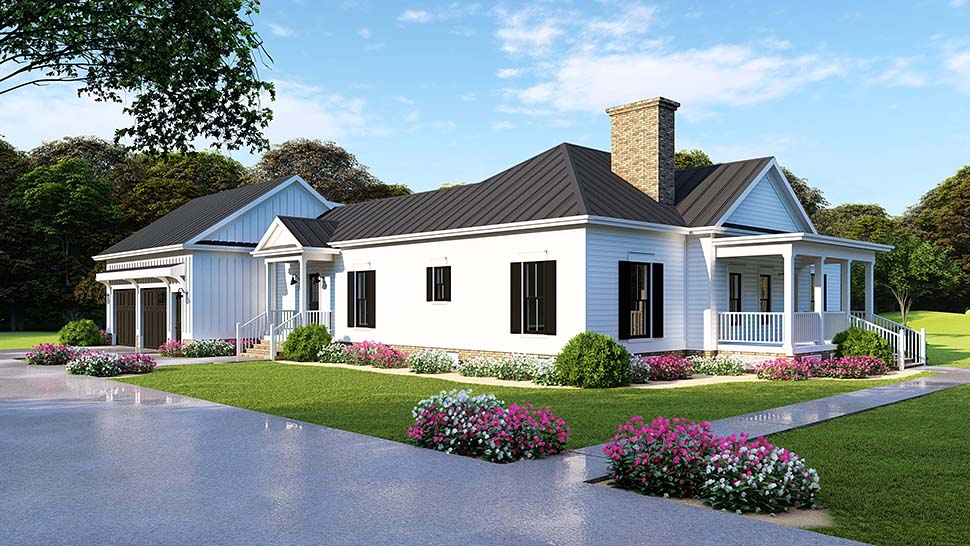 Bungalow, Country, Craftsman, Traditional House Plan 82516 with 3 Beds, 2 Baths, 2 Car Garage Picture 4