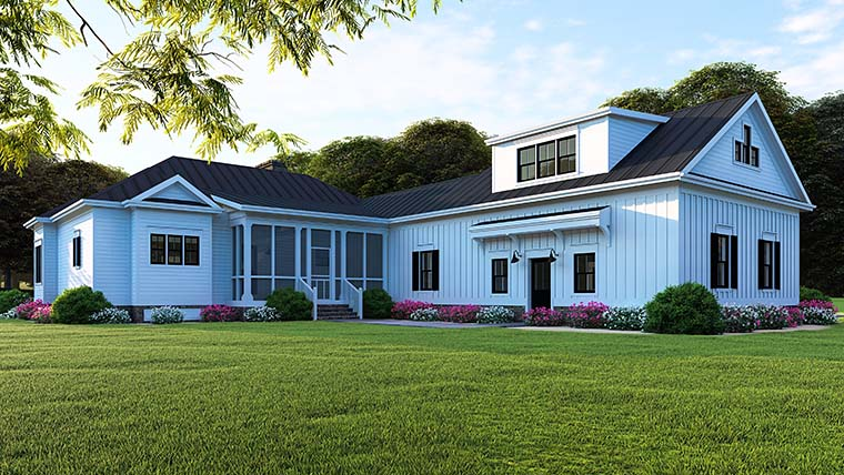 Bungalow, Country, Craftsman, Traditional House Plan 82516 with 3 Beds, 2 Baths, 2 Car Garage Picture 5