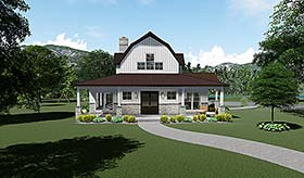 Southern , Country , Contemporary House Plan 82517 with 3 Beds, 4 Baths, 3 Car Garage Elevation