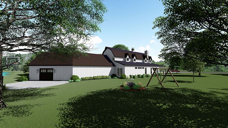 Contemporary, Country, Southern House Plan 82517 with 3 Beds, 4 Baths, 3 Car Garage Picture 2