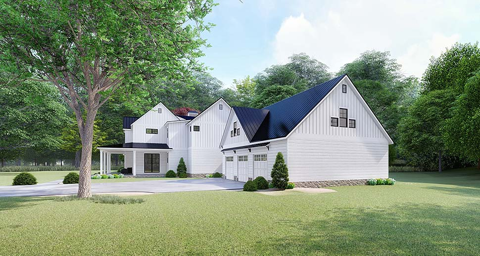 Country, Farmhouse House Plan 82518 with 4 Beds, 4 Baths, 3 Car Garage Picture 1