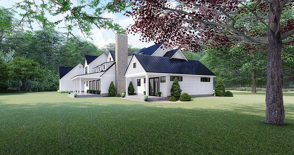Country, Farmhouse House Plan 82518 with 4 Beds, 4 Baths, 3 Car Garage Picture 2