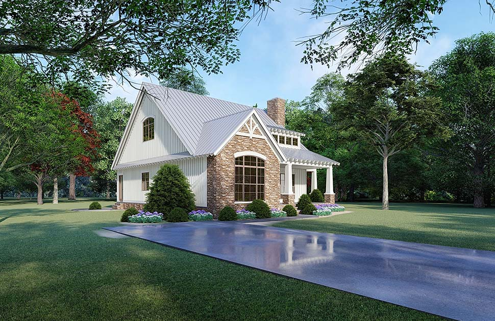Bungalow, Cottage, Country, Craftsman House Plan 82519 with 3 Beds, 3 Baths Picture 2