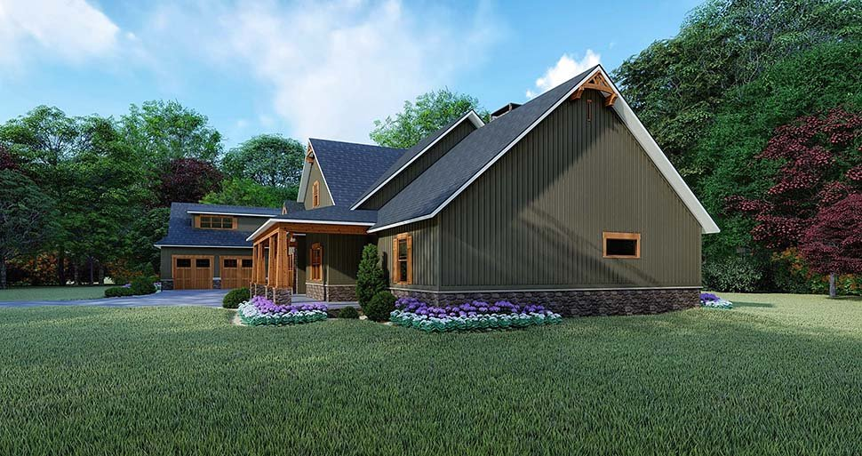 Bungalow, Craftsman, Traditional House Plan 82522 with 4 Beds, 5 Baths, 2 Car Garage Picture 1