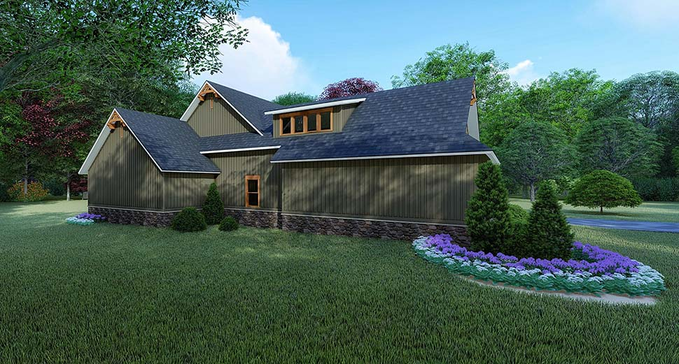 Bungalow, Craftsman, Traditional House Plan 82522 with 4 Beds, 5 Baths, 2 Car Garage Picture 2