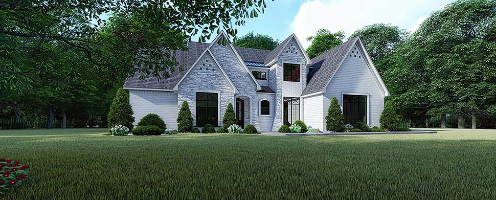European , Traditional , Elevation of Plan 82523