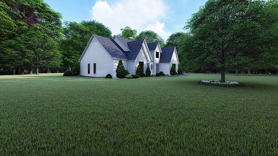 European, Traditional House Plan 82523 with 3 Beds, 5 Baths, 3 Car Garage Picture 2