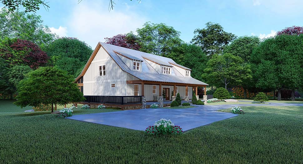 Farmhouse House Plan 82526 with 3 Beds, 4 Baths, 2 Car Garage Picture 2