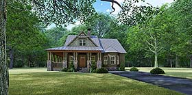 Craftsman , Country , Bungalow House Plan 82529 with 3 Beds, 2 Baths Elevation