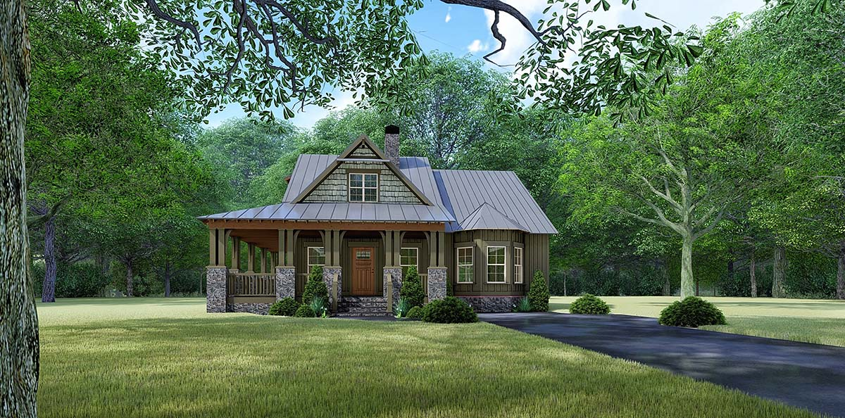 Bungalow , Country , Craftsman , Elevation of Plan 82529