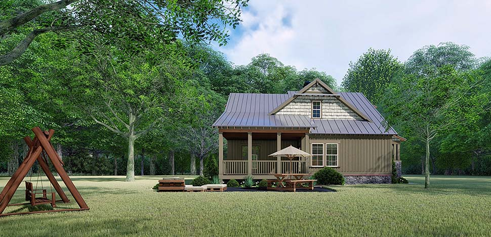 Bungalow, Country, Craftsman House Plan 82529 with 3 Beds, 2 Baths Picture 2