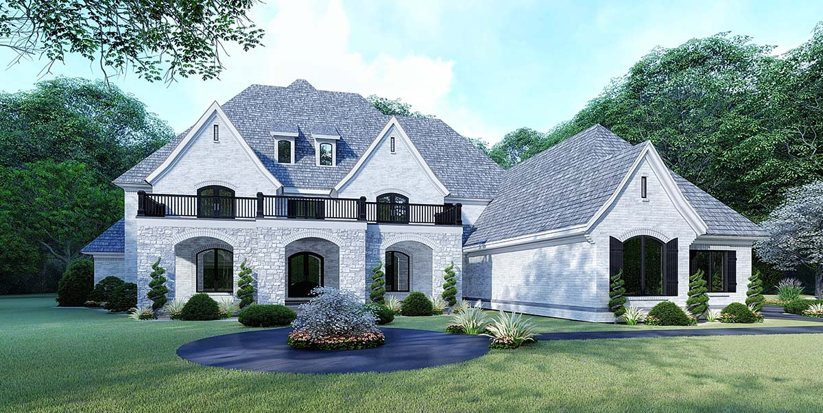European House Plan 82532 with 5 Beds, 5 Baths, 3 Car Garage Elevation