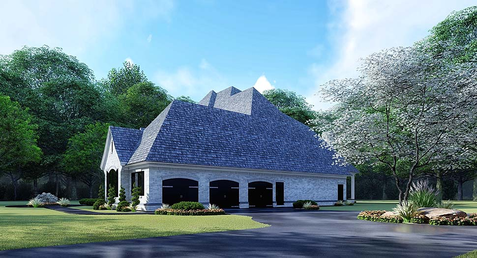 European House Plan 82532 with 5 Beds, 5 Baths, 3 Car Garage Picture 1