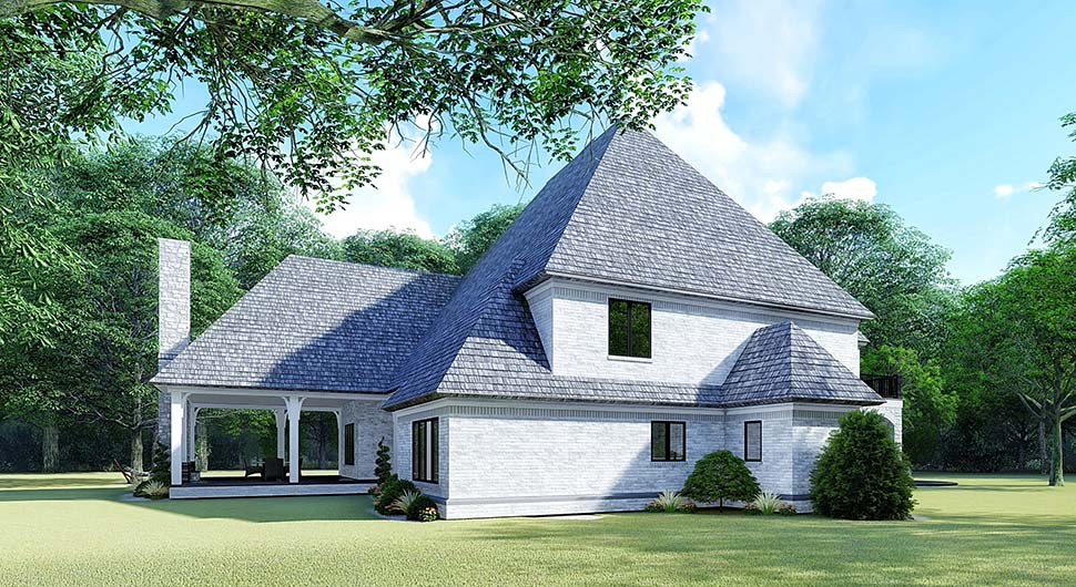 European House Plan 82532 with 5 Beds, 5 Baths, 3 Car Garage Picture 2