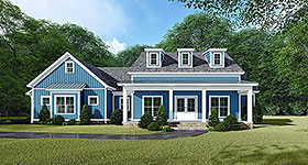 Bungalow , Country , Craftsman , Farmhouse House Plan 82533 with 3 Beds, 3 Baths, 2 Car Garage Elevation