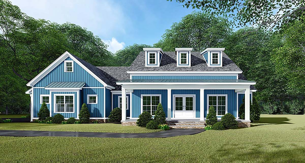 Bungalow Country Craftsman Farmhouse Elevation of Plan 82533