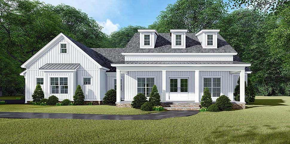 Bungalow, Country, Craftsman, Farmhouse House Plan 82533 with 3 Beds, 3 Baths, 2 Car Garage Picture 4