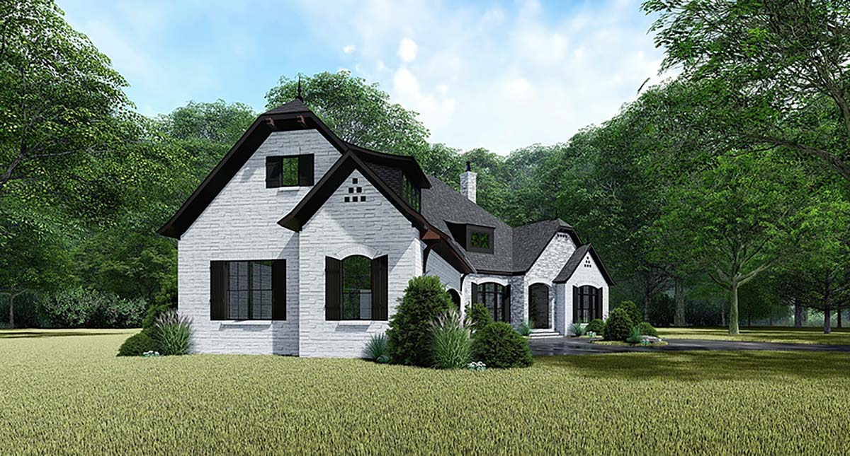 Bungalow, Craftsman, European, French Country House Plan 82534 with 4 Beds, 4 Baths, 3 Car Garage Picture 2
