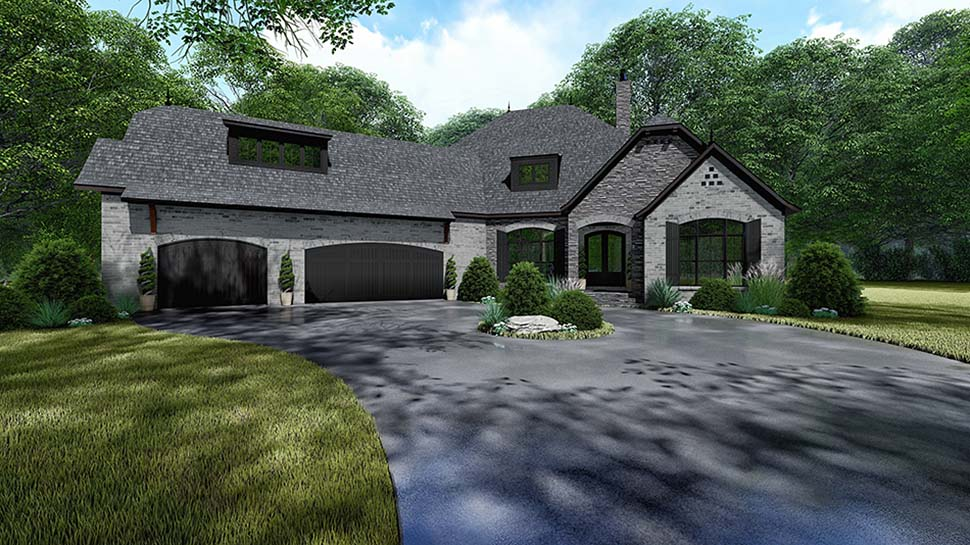 Bungalow, Craftsman, European, French Country House Plan 82534 with 4 Beds, 4 Baths, 3 Car Garage Picture 3