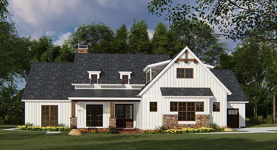 Bungalow, Craftsman, Farmhouse House Plan 82546 with 4 Beds, 3 Baths, 3 Car Garage Picture 1