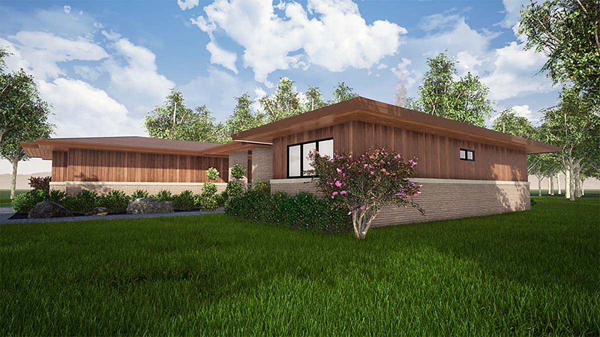 Contemporary, One-Story, Prairie House Plan 82559 with 3 Beds, 3 Baths, 2 Car Garage Picture 1