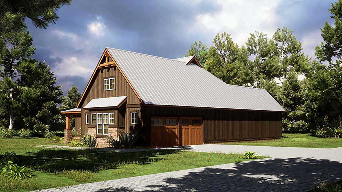 Bungalow, Craftsman, Farmhouse House Plan 82568 with 4 Beds, 2 Baths, 2 Car Garage Picture 1