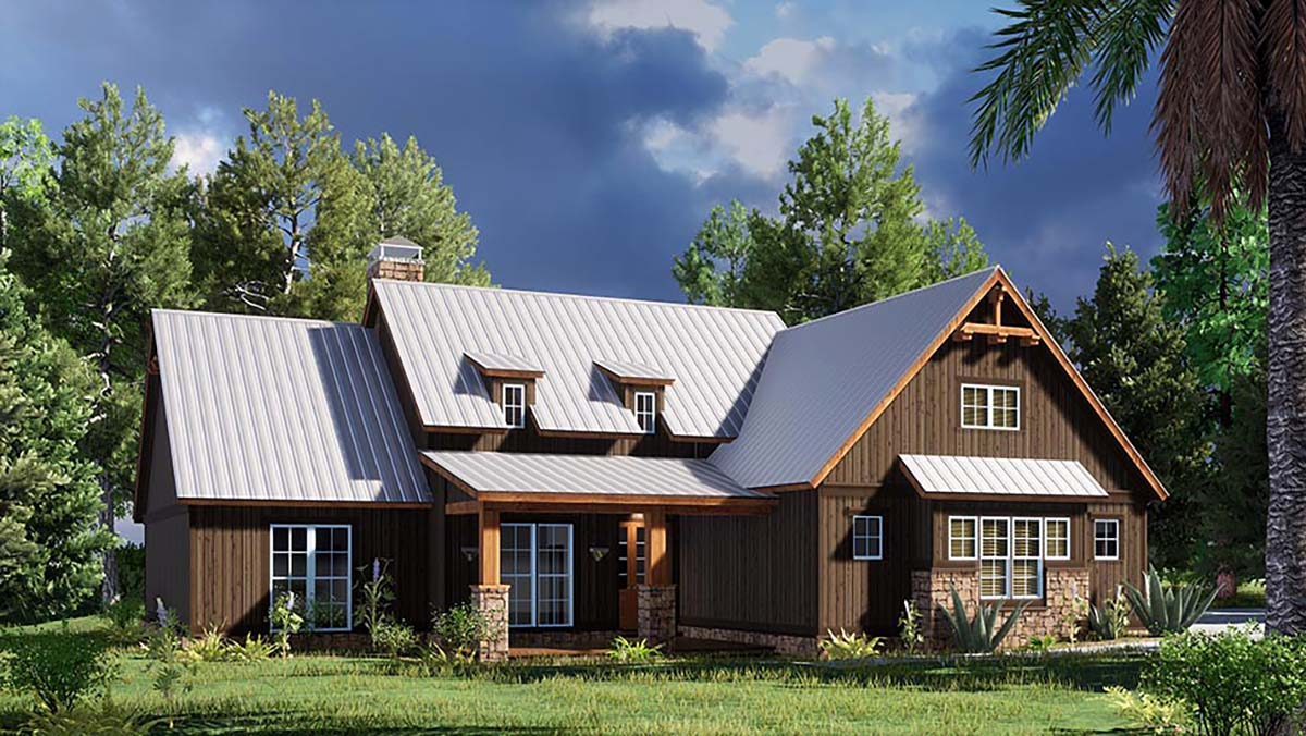 Bungalow, Craftsman, Farmhouse House Plan 82568 with 4 Beds, 2 Baths, 2 Car Garage Picture 2